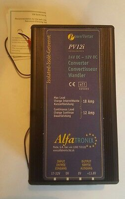 Alphatronix PV12i 24v to 12v dc converter powerverter 12/18A isolated in to out