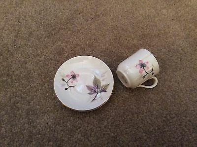 Lovely Miniture Porcelain Shelly Cup and Saucer