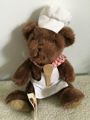 """8"""" Clement The Chef Bear From The Teddy Bear Collection."""