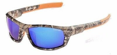 Camouflage Polarized Fishing Glasses Cloth & Case Mirrored