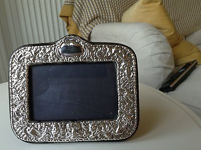 Embossed Sterling Silver Photo Frame