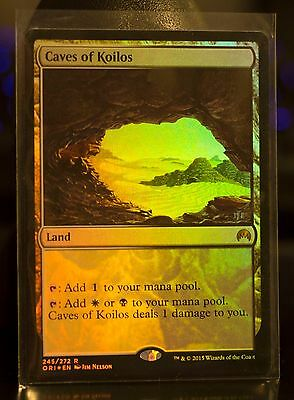 MTG Magic The Gathering Caves of Koilos Rare Land x2 (one FOIL) M/NM