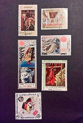 Yemen kingdom stamps air-mail - Olympics-