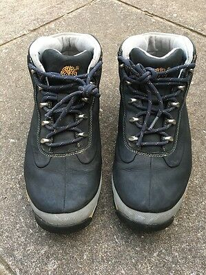Mens Timberland Euro Sprint Black Leather Ankle Walking Boots 8.5