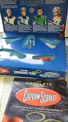 ORIGINAL BOXED Captain Scarlet Command Team + book