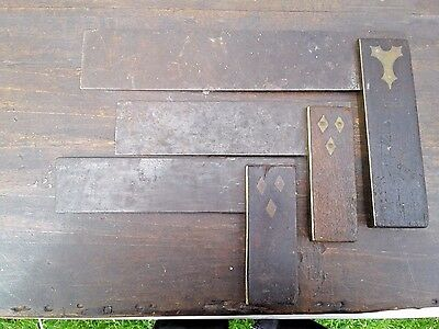 3 Antique Rosewood And Brass Try Squares
