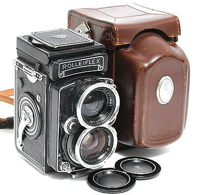 @ Vintage Wide-Angle Rolleiflex with Distagon 4/55mm lens and case