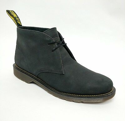 Dr Martens Air Wair Mens Black Leather Desert Chukka Ankle Boots Size UK 11 US12