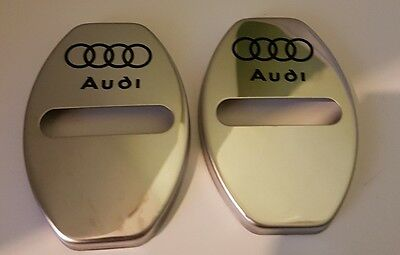 Pair Audi Door Lock Cover Polished Uk Seller Great Finishing Touch