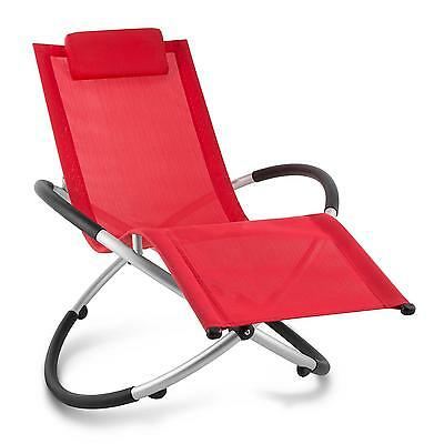 Garden Home Deck Chair Portable Folding Sun Lounger Reclining Swaying Rocking