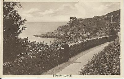 1910s Postcard of the Castle at Fowey