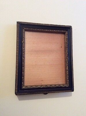 Old vintage small decorative picture/ photo frame black