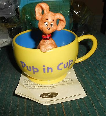 Vintage Dr. Seuss Pup In Cup Figure. 1St Edition Numbered. 2000 Comes With C.o.a
