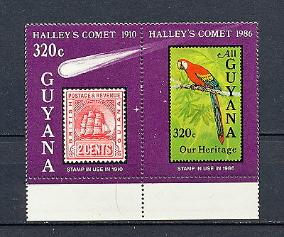 (Zb 064) Guyana 1986 Mnh Comet Galley Parrot