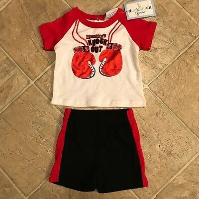 baby boys 2-piece outfit size 3-6 months Duck Duck Goose