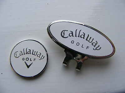 Callaway magnetic golf ball marker with Hat / Cap clip     (White)   .7