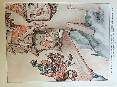 m17a ephemera 1920s book plate knight and castle  h c sandy