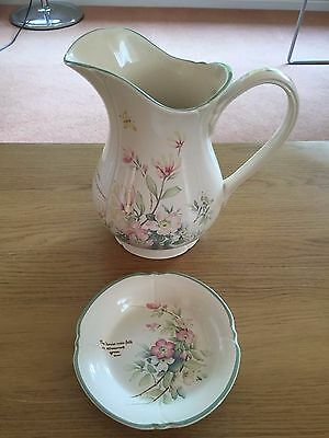 ROYAL WINTON Country Diary Collection Dish Bowl and water charger / jug