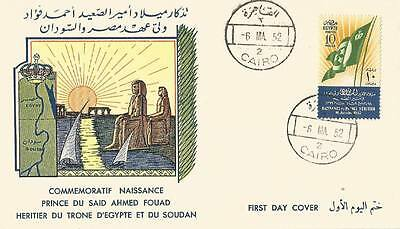 EGYPT Stamp Sc# 292-294 FDC 1951 First Mediterranean Olympic Games VF