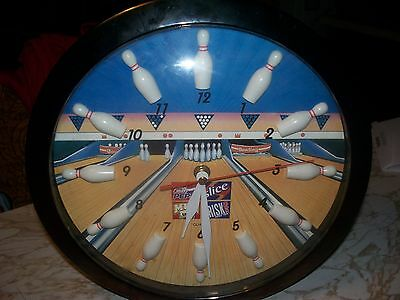 "Pepsi Bowling  Clock 11"" Battery Operated"