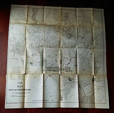 1899 Medical Map of Washington DC Fatal Cases from Diarrhea Diseases