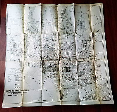 1901 Medical Map City of Washington DC Fatal Cases ACUTE LUNG DISEASES