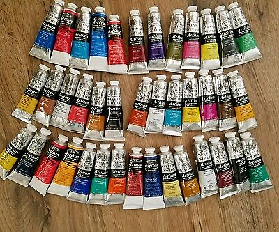 Winsor&Newton artisan  lot of 40 Water mixable oil colors