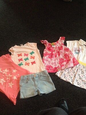 Girls Summer Bundle Clothes Age 5-6  Years