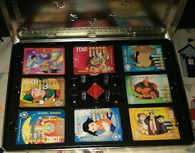 186 x Jackie Chan Adventures Trading Cards and Metal Case