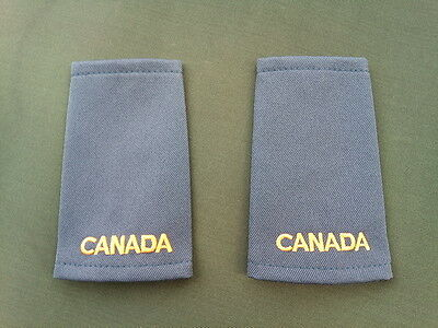 "Canadian Forces Shoulder Blank Rank ""Canada"" slip ons Pair Blue"