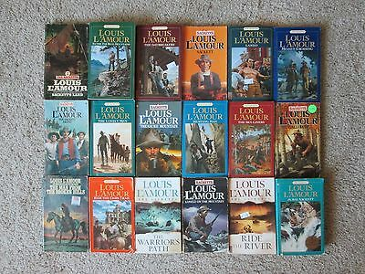 Lot of 18 LOUIS L'AMOUR Western Paperbacks, The Complete SACKETTS Series
