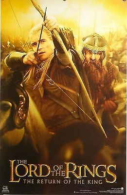 Lord Of The Rings 23x35 Legolas Gimli Movie Poster Return Of The King 2003