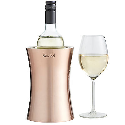 Double Walled Insulation Wine Champagne Cooler Stainless Steel Bottle Holder