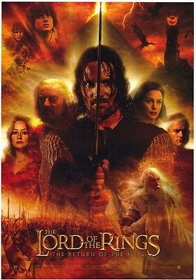 """Lord Of The Rings Aragorn  Poster  - 23"""" X 35"""" - 2003 / Brand New & Rolled"""