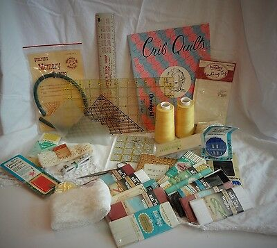 Huge lot Quilt Supplies vintage items 33 items WOW most new in package