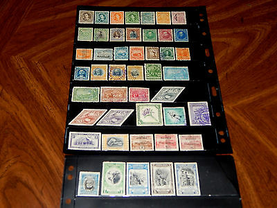 Costa Rica stamps - BIG lot of 46 mint hinged and used early stamps - super !