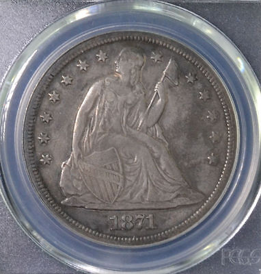 1871 $1 Seated Liberty Dollar PCGS VF 35 82628941