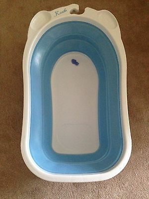 Karibu Baby Folding Bath - Blue in excellent condition