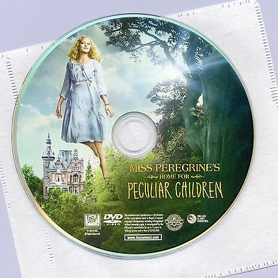 Miss Peregrine's Home For Peculiar Children 2016 movie, new DVD disc and sleeve