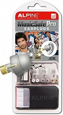 Alpine MusicSafe Pro Filter Ear Plugs For Musicians and ndash; Silver