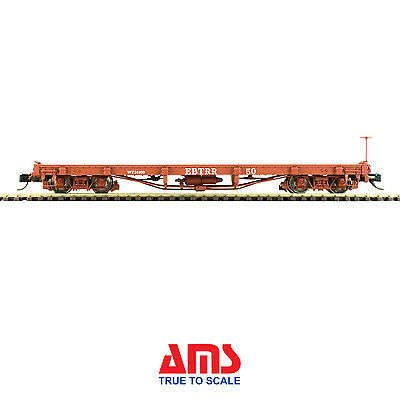 ACCUCRAFT AMS AM52-0393X On3 Flat Car East Broad Top E.B.T. , 1 car, New