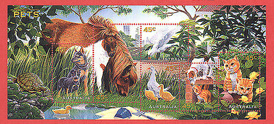 Australia Unused Stamp 1996 Pets Scott 1558 1563 Souvenir Sheet