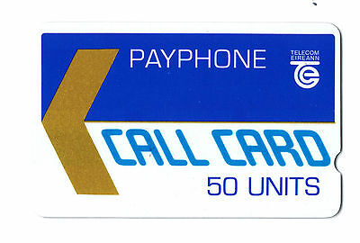 Ireland 1988 Dublin GPT Trial 50u Callcard ETCHED CONTROL NUMBERS 000238.