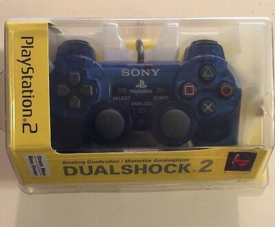 Official Sony PS2 DualShock 2 Controller Ocean Blue - New and Still Sealed!