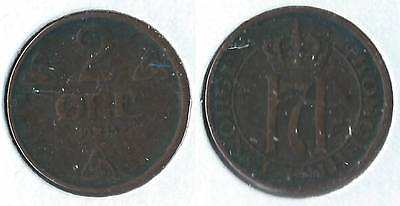 1913 Norway 2 ore coin