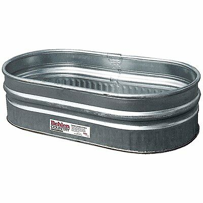 Behlen Country ST214 Shallow Galvanized Steel Round End Stock Tank, Approximatel