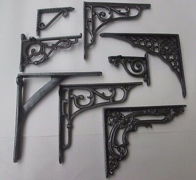 Rustic Antique style Cast Iron wall bracket Shelf Toilet Ornate Industrial Chic