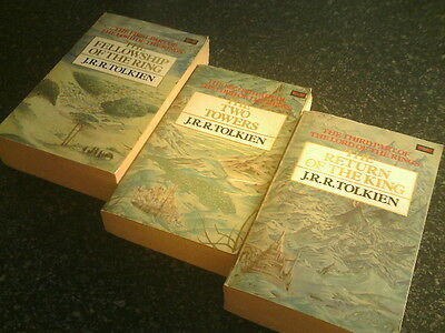 LORD OF THE RINGS - Set of 3 x Paperbacks - Complete Trilogy - J.R.R. Tolkien.