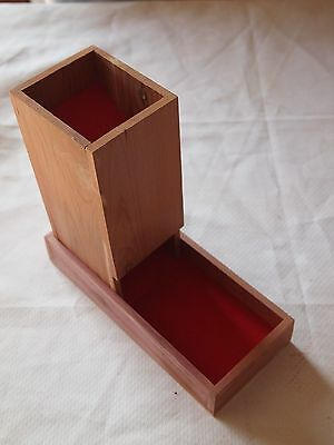 Dice Tower and Tray - aromatic cedar