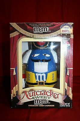 M&M Nutcracker Sweet Blue Yellow Limited Edition Candy Dispenser Original Box
